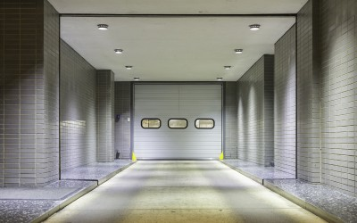 Entrance to underground garage